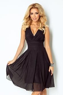 Elegancka szyfonowa sukienka. Kliknij w zdjęcie i przejdź do sklepu: e-stil.pl
