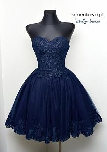 Śliczna granatowa sukienka ...