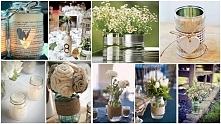 DIY dekoracje ślubne-inspiracja:)
