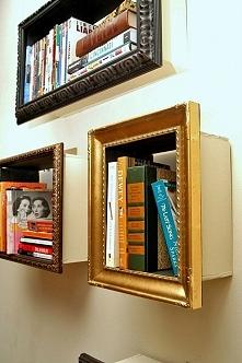 Ciekawe pomysły na przechowywanie książek (inne pomysły po kliknięciu na obrazek)