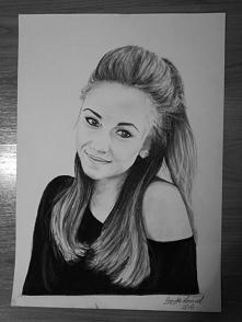 Kolejny z moich rysunków <3 portret kuzynki
