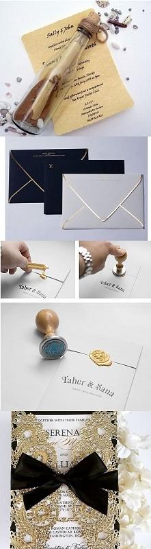 pomysły na zaproszenia ślubne:)