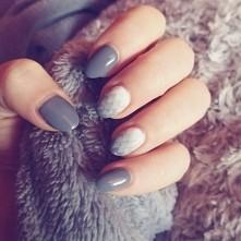 me#nails#ombre#geomericombre#geometryczneombre#wlasnorecznapraca#grey#szrosci