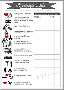 Kilka bardzo pomocnych plików do organizacji wesela :)