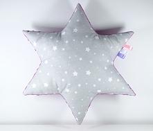 Poduszka gwiazdka, tył z polaru minky, przód bawełna, wypełnienie antyalergiczne.