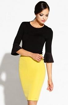 Dursi Bellis spódnica żółta Kobieca spódnica, dopasowany fason, podkreśla kob...