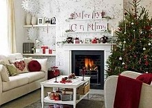 Boże Narodzenie i kominek