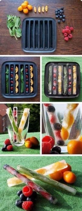 fruits#ice#drink#blueberry#strawberry#lemonade#