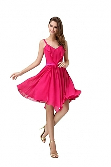 Angelia Bridal Women's Short Party Dress With Spaghetti Strap  Now go to Amazon to buy