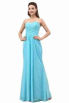 Angelia Bridal A-Line Chiffon Bridesmaid Dress Strapless Long Prom Evening Gown  Now go to Amazon to buy
