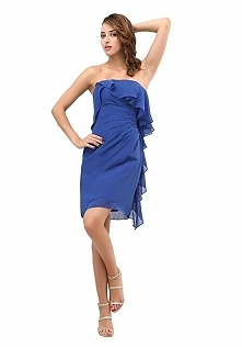 Angelia Bridal Women's Short Strapless Flounced Chiffon Prom Dress  Now go to Amazon to buy