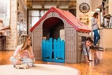 Sezon na poszukiwanie świątecznych prezentów uważamy za otwarty! Taki domek to marzenie każdej małej pociechy! I oszczędność dla rodziców ;)