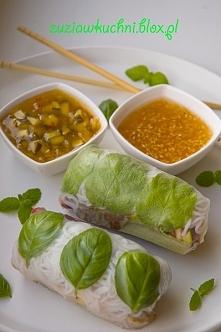 Sajgonki - Spring Rolls z sosem ogórkowym