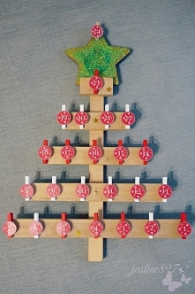 Kalendarz adwentowy DIY - drewniana choinka