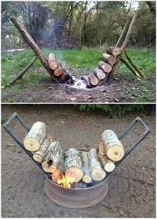 ciekawy sposób na podtrzymanie ogniska. ciekawe czy działa