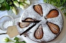 Ciasto czekoladowe z gruszkami - przepis po kliknięciu na zdjęcie :)