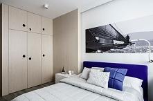 Wnętrze sypialni w Sea Towers, Gdynia