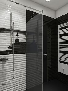 Wnętrze łazienki w apartamencie Sea Towers w Gdyni