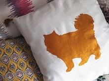 Poduszka DIY. Z Twoim zwierzakiem bądź dowolnym wzorem. Na blogu instrukcja c...