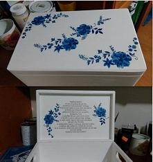 Pudełko na prezent dla rodziców decoupage - wykonane na zamówienie ;) Zamówienia na moni.mich@o2.pl