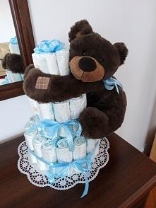 Tort z pampersów... dla chłopca :)