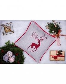 świąteczna poduszka z renif...