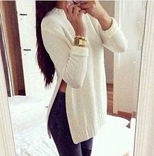biały sweterek <3