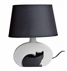 Lampa ceramiczna z czarnym ...