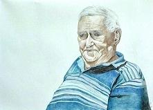Portret dziadka, kredki