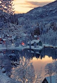 Snow Village, Norway photo via kim