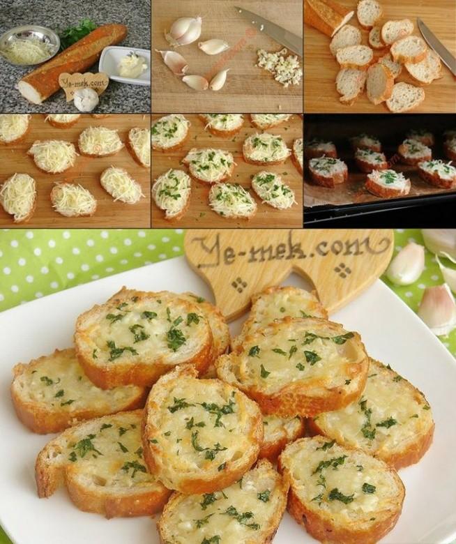 chlebowe przekąski (czosnkowe) :)