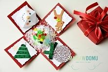 Expolding box - pudełko z życzeniami zamiast kartki na święta, po kliknięciu przejdziesz na stronę z szablonem do wycięcia pudełka