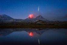uchwycony na zdjęciu meteor...