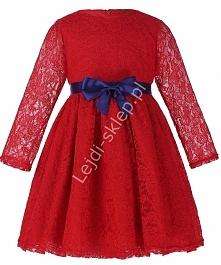 Sukienka dla dziewczynki. Czerwona koronkowa sukienka. lejdi-sklep.pl