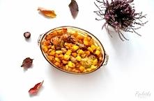 Kurczak pieczony z dynią w przyprawie curry - pyszny i lekki przepis :).
