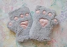 Ostatnio podoba mi się wszystko z motywem kotów :D Niedługo do kompletu uszyje sobie komin, muszę tylko kupić materiał  :) Rękawiczki możecie dostać na stronie asos :)
