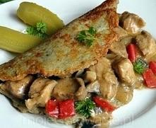 Placki po węgiersku ♥♥♥ Najnajnajnajnajnaj PYSZNIEJSZA ♥♥♥ Składniki: Placki ziemniaczane: 10 niedużych ziemniaków, jajko, ok 1/3 szkl mąki, sól, pieprz, majeranek, 1 mała cebul...