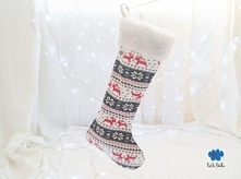Norweskie wzory na Święta :) Skarpeta świąteczna to idealny pomysł opakowania prezentów.