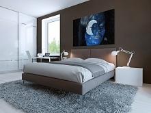 Piękna noc - fotoobraz do sypialni