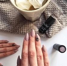 Rozgrzewajaca hot cocoa na paznokciach! Lubicie taki odcień nude?