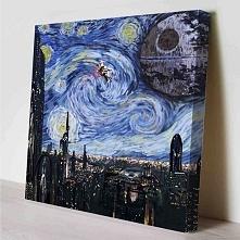 Jaki prezent dla osoby, która lubi malarstwo Van Gogha i Star Wars? Wydawać by się mogło, że duet nie do połączenia, a jednak. Taki obraz na pewno ucieszy kolekcjonera Star Wars