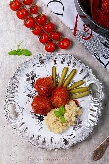 Pulpety z indyka w sosie pomidorowym podane z kaszą jaglaną // turkey meatbal...
