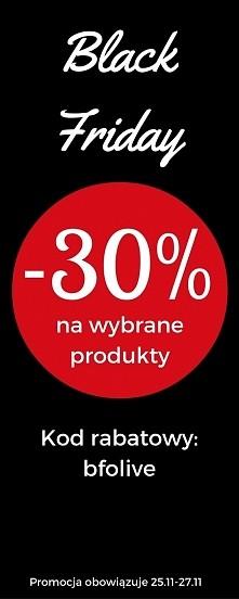 Black Friday w Olive.pl trwa przez cały weekend! Wszystkie produkty objęte promocją znajdziecie na naszej stronie i na naszym facebooku.