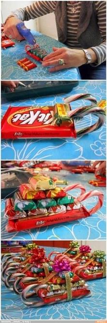 Słodycze zapakowane w ciekawy sposób.