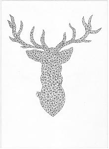 Geometryczny jeleń ;)
