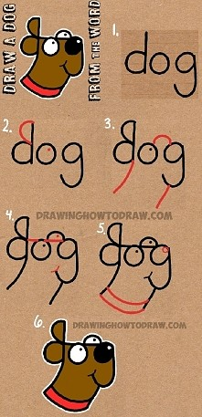 how to draw from the world - dog Genialne!
