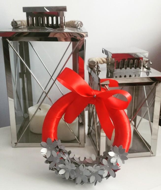 #wianek #wianekbożonarodzeniowy #srebrnywianek #srebrny #czerwony #czerwonywianek #prezent #wianek2016