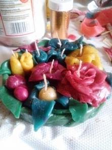 Bukiet świeczkowych kwiatków :)