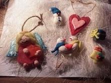 Świąteczne zawieszki z masy polimerowej i zimnej porcelany :)