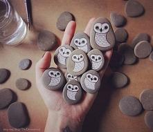 kamienne sowy :)